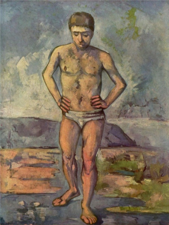 Paul Cézanne, The Bather (ca. 1885)